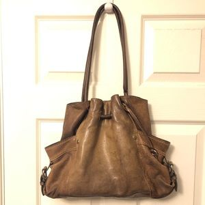 Fossil Brown Leather Shoulder Purse